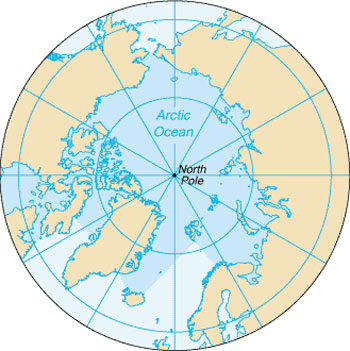 Location Map of the Arctic Ocean