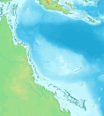 Location Map of The Great Barrier Reef