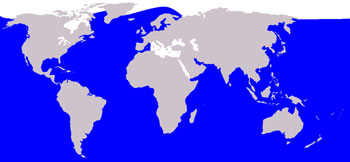 Humpback Whale Range Map (Worldwide)