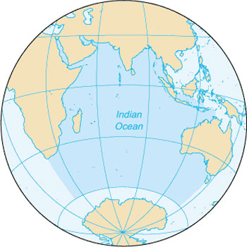 Location Map of the Indian Ocean