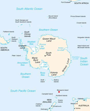 Royal Penguin Range Map (Macquarie Island)