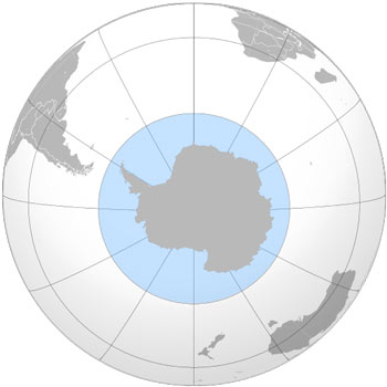 Location Map of the Southern Ocean