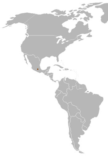 Volcano Rabbit Range Map (Mexico)